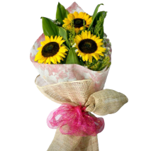 3 pieces sunflower bouquet to philippines
