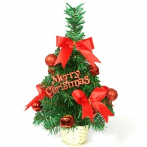 send 30cm red mini decorated christmas tree to philippines