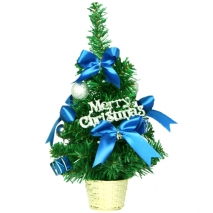 send 30cm blue mini decorated christmas tree to philippines
