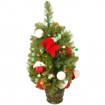 send 2 feet artificial christmas tree - clear lights to philippines