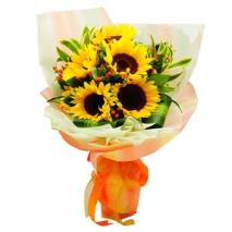 5 pcs. Sunflower in Bouquet