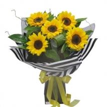 5 Pieces Sunflower Bouquet