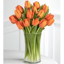 15 orange tulips vase to philippines