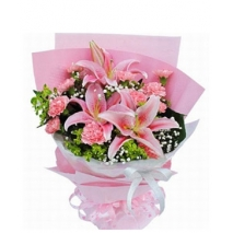 pink lilies with pink carnation to philippines