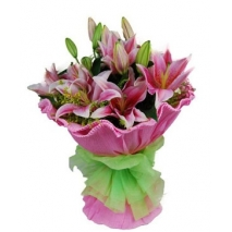 4 stem lilies bouquet to philippines
